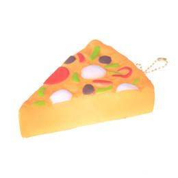 Mini pizza online-2018 Nuevo 11 cm Mini Yummy Pizza Squishy Slow Rising Cream Perfume perfumado Stress Reliever Toy Squeeze Toys Correa clave Buen regalo