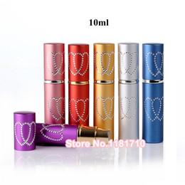 Wholesale Travel Size Perfume Atomizer - Wholesale 200pcs lot Top Quality Metal Perfume Bottle 10ml Perfume Atomizer Empty Spray Aluminum Bottle Travel Size