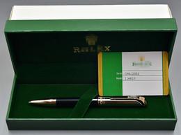 caja de embalaje negra Rebajas Embalaje de lujo de la caja - AAA de alta calidad Rlx marcas negro / metal plateado bolígrafo papelería escuela suministros de oficina como regalo de navidad