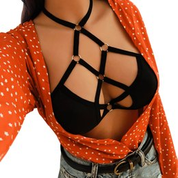 Canada CHAMSGEND Préférentiel 2018 Femmes Sexy Bandage Lingerie Creux Strappy Corset Push Up Soutien-gorge Top Dropship cheap push up lingerie corset Offre