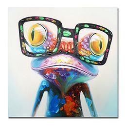 Felice rana online-100% dipinto a mano enorme pittura a olio Happy Frog Modern Wall Art su tela