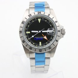 Wholesale Wristwatch Automatic Vintage - 3 colors Rolix EXP luxury brand watch vintage style stainless steel 40mm wristwatches mechanical essential men good watch replicas watch