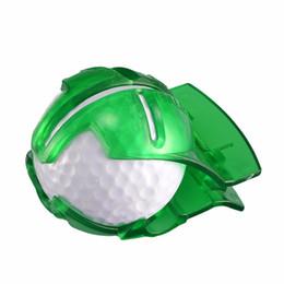 golfballschuh Rabatt Golf Ball Line Liner Markierungsschablone, die Ausrichtungsmarken zeichnet Pitching Line mit Stift Tool Club Equipment Accessories Grün NY063