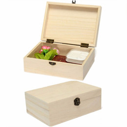 Wholesale wooden box lock wholesale - Handmade Wooden Box Storage Organizer Natural Wood Boxes With Lid Golden Lock Wood Boxes for Gifts caja madera Storage Box &Bins