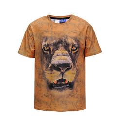 2018 Nova Moda Homens / mulheres 3D t-shirt engraçado impressão colorido Rei Leão verão fresco camiseta rua desgaste Casual tops de Fornecedores de leão 3d do rei camiseta