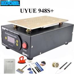 Wholesale Iphone Vacuum Machine - Hot Sale UYUE 948S+ LCD Separator Machine Screen Repair Machine Build-in Pump Vacuum Kit For IPhone For Samsung+Gift