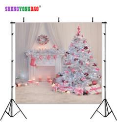 Fundos do natal para a fotografia on-line-SHENGYONGBAO Pano de Arte Personalizado Cenários de Fotografia Prop Dia de Natal Tema Fotografia de Fundo 11196