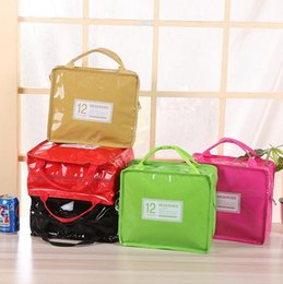 Wholesale Ice Bag Insulation - PU Leather Insulation Lunch Box Bag Lunch Package Ice Pack Thermo Thermal Lunch Bag Tote Cooler Box Insulation Picnic Bags OOA3834