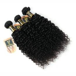 Cabelos cacheados chineses on-line-Fulgent Sun Chinês encaracolado cabelo humano afro kinky extensões de cabelo 3 pacotes cabelo humano virgem bundle dhgate china fornecedor Total 300g