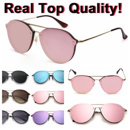 Wholesale Glass Bridges - 4292 blaze double bridge sunglasses 2018 New arrival real top quality uv protection sun glasses shades oculos de sol with packages