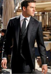 Wholesale Grey Bespoke Tuxedo - CUSTOM MADE TO MEASURE , BESPOKE CHARCOAL GREY BUSINESS MEN SUIT,CLASSIC MEN WEDDING SUITS FOR MEN
