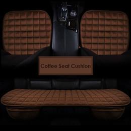 copri sedili in velluto Sconti 3pc / set Car Seat Copertine Velvet Seat Protector Pad Traspirante Inverno Caldo Cuscino Auto copertine Auto-styling per Peugeot