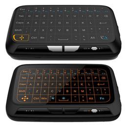 H18 H18 + Mini 2.4 GHz беспроводная клавиатура с подсветкой сенсорной панели полноэкранная мышь Touchpad Combo для MAC OS Windows Android TV Box Linux от