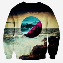 Wholesale Animal Scenery - Hip Hop Hoodie New hoodies men tops autumn pullovers 3d sweatshirts print Sea scenery slim casual graphic hoodies