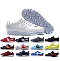 Wholesale Outdoor Print Fabric - famous brand Casual Shoes men and women cortez shoes leisure Shells shoes cortez QS breathable Leather fashion outdoor Sneakers Eur 36-44
