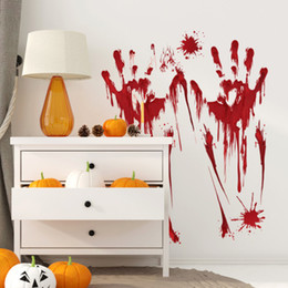Décor de vampire en Ligne-Halloween Sticker Mural Footprints Clings De Sol Halloween autocollant sanglant Vampire Zombie Party Decor Décalcomanies effrayant Stickers