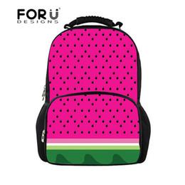 59a53f3584 FORUDESIGNS 2018 Scuola Zaino Adolescent Girl School Bags Anguria Stampa  per Adolescente Zaino Borsa a tracolla