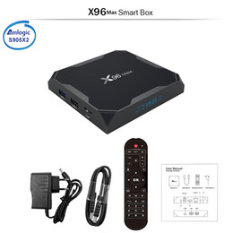Argentina Android 8.1 X96 MAX Amlogic S905X2 Android 8.1 TV BOX 2 / 4GB 32 / 64GB Smart TV 2.4G5GHz Dual Wifi Bluetooth 4K Set top box X96 Max cheap android smart tv box dual Suministro