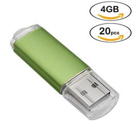 2019 velocità compresse Bulk 20pcs Rettangolo 4 GB USB 2.0 Flash Drive Flash Pen Drive Memory Stick ad alta velocità Thumb Storage per computer portatile Tablet multicolore sconti velocità compresse