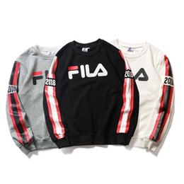 b12a7a46eda2 Male and female Casual breathable sweatshirt Cotton crew neck pullover Arm  stitching long sleeve new style wholesale