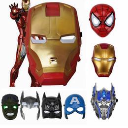 Canada Masque de superhéros lumineux LED pour enfant adulte Avengers Marvel Spiderman Ironman capitaine Amérique Hulk Batman Masque Offre
