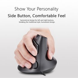 2020 boutons souris ergonomique M618 bureau ergonomique souris verticale 6 boutons 600/1000/1600 DPI optique droit Souris main avec tapis de poignet pour PC portable boutons souris ergonomique pas cher