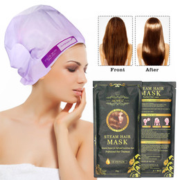 hair damage Coupons - Steam Hair Mask Packet Hair Care Shampoo&Conditioner Women Men For Dry Damaged For Color Treated Hair 35g Free Shipping