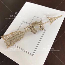 2019 invito di nozze del brooch del rhinestone Popolare marchio di moda versione alta Spilla Arrowhead per signora Design Women Wedding Party gioielli di lusso con per la sposa Whit BOX.