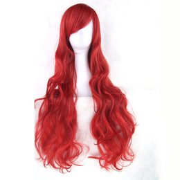 wholesale wigs hairpieces Coupons - Soowee 20 Colors Long Curly Women's Hairpiece High Temperature Fiber Synthetic Hair Gray Red Party Hair Cosplay Wigs