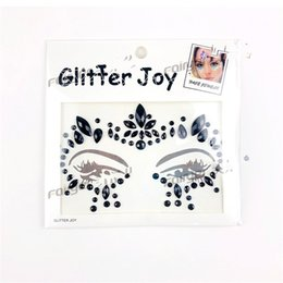 Wholesale Decorations For Masquerade - Fashion DIY Decoration Resin Drill Stickers For Party Masquerade Non Toxic Popular Crystal Face Tattoo Sticker Bling Style Parts 4 6yy Z