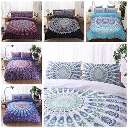 Wholesale Modern Style Bedding - 5 Colors 3D Bedding Sets Queen Size Bohemian Mandala Bedding Quilt Duvet Cover Set Sheet Pillow Cover Bedding Set Gifts CCA9053 5set