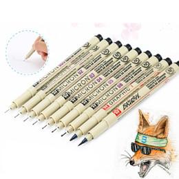 Wholesale Micron Drawing Pens - Premium Pigma Micron Needle Waterproof Fine Lines Black Sketch Marker Pens For Design Manga Brush Drawing Manga Art Supplies