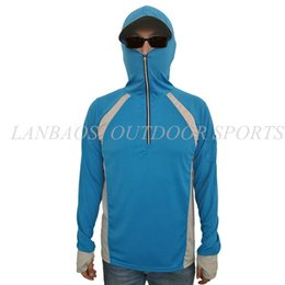 8bc9662132f LANBAOSI Sun UV Protection Fishing Clothing for Men Quick Dry Shirt Long  Sleeve Hooded Jackets Breathable Tourism Jacket Clothes Y1893006