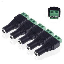 Штекерное гнездо 2,1 мм постоянного тока онлайн-Штекерные разъемы постоянного тока 5,5 мм x 2,1 мм Штекерные разъемы питания Разъемы для светодиодных модулей