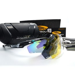 Wholesale Fashion Bikes - 2018 New Fashion Sunglasses Men TR90 Frame Outdoor Sports rudy Sun Glasses Goggles Oculos De Sol Masculino men bike glasses Eyewear