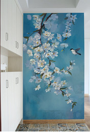 Wholesale Modern Magnolia - Modern Wallpaper Birds Magnolia flower Photo Mural Wallpapers for Living Room TV Background Wall Paper Murals Custom Any Size
