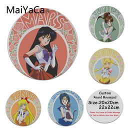 Sailor moon juegos online-MaiYaCa Nuevos Diseños Sailor Moon anime Almohadilla de Silicona para Ratón Juego High Speed New Round Mousepad