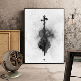 Wholesale Guitar Wall Decorations - Simple Nordic home decoration black guitar wall decoration series decorative wallpaper wall decoration