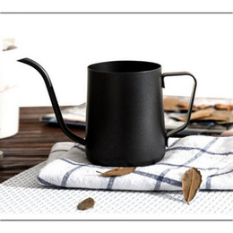 Wholesale Tea Makers Wholesale - Top Quality 350ml Stainless Steel Gooseneck Pour Over Coffee Maker Hanging Ear Drip Coffee Long Spout Pot Tea Kettle 023