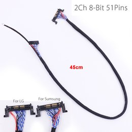 Wholesale Lvds Cable Lcd Led - FI-RE51P LVDS Cable 2 ch 8-bit 51 pins 51pin dual 8 LVDS cable LCD panel matrix screen 2 models LED monitor line rope cord