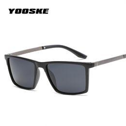 YOOSKE мужская площадь поляризованных солнцезащитных очков мода популярный бренд солнцезащитные очки водитель безопасности вождения защитить очки старинные очки cheap drive protect от Поставщики защищать диск