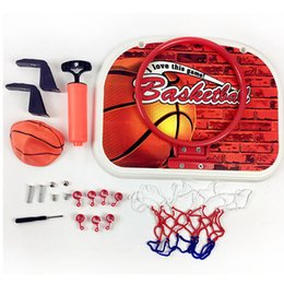 Wholesale Toys Basketball Board - Basketball Back Board Stand Kit & Hoop Set Basketball Game Gift For Children Kid Outdoor Fun Toy Sports Game