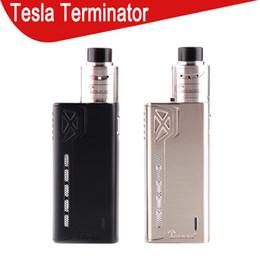 2019 kits de arranque terminador Tesla Terminator Kit 90W TC Starter Kit VW 18650 Battery Box Mod Antman 22 RDA Atomizer 0268057-1 kits de arranque terminador baratos