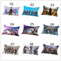 Wholesale pattern kids - 40cmx60cm One piece Game Fortnite Pillow Case Cover Cotton Standard Pillowcase Action Figure Gifts for Kids Party