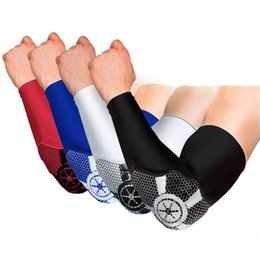 Wholesale Knee Support Pair - 1 Pair Elastic Basketball Lengthen Elbow Pads Arm Sleeve Volleyball Fitness Elbow Support Brace Outdoor Sports Safety Free Shipping