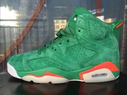 Wholesale High Quality Mens - 2018 Retro 6 NRD Gatorade Green Suede 384664-145 Basketball Shoes High Quality For Men Women 6s mens Sneakers sports Trainer shoes 5-13