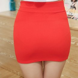 064d371617472 New Mini Skirts 2018 Summer Sexy Girls Casual Package Hip Short Skirts  Women Tight Office Party Female Red Black 50