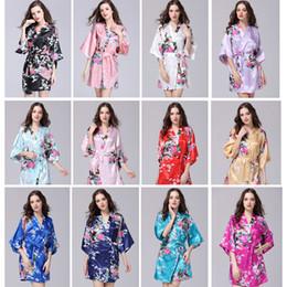 Kimono ropa interior ropa de dormir online-Ropa de verano de las mujeres atractivas Kimono de seda bata de pijamas bata de dormir ropa de dormir ropa de cama rota kimono underwear camisón