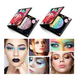Wholesale eye shadow colours - HUAMIANLI Brand Rainbow Eyeshadow Luminous Glitter Highlighter Coloured Eye Shadow Colorful and High Quality Eyeshadow 1218036