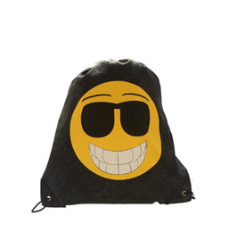 Cute Emotional Poop Expression Emoji College Backpack Leather Fashion Bags Drawstring Waterproof Girl Fashion Bags Womens Shoulder Bag For Women